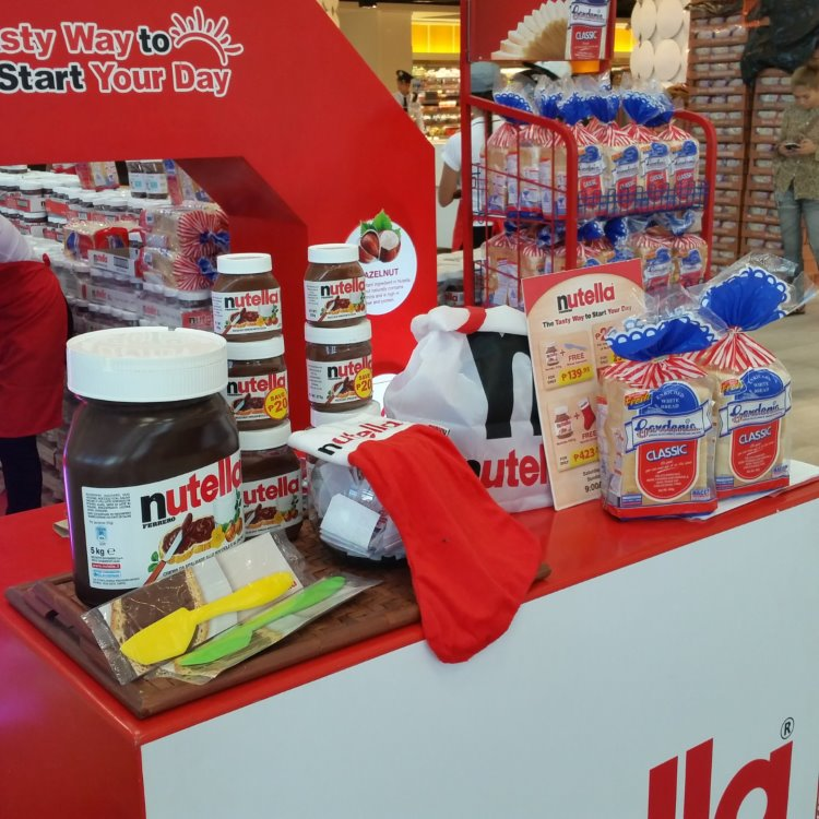 nutella pop-up store in landmark trinoma