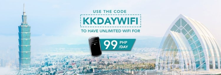 KKday - unlimited wifi - Php99 - Taiwan