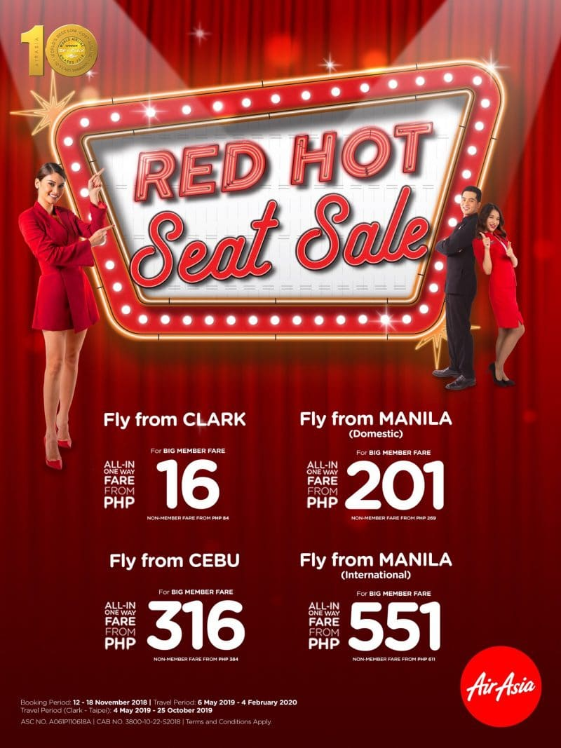 AirAsia Red Hot Seat Sale Jingle Poster