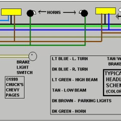 Wiring Diagram For Chevy Truck Tail Lights Honda Xrm Rs 125 Electrical Headlight And Light Schematic Typical 1973
