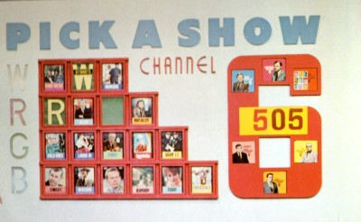 The Pick-A-Show Game Board.  Photo from album The Best of Pick-A-Show, copyright Scooter Records, 1972.