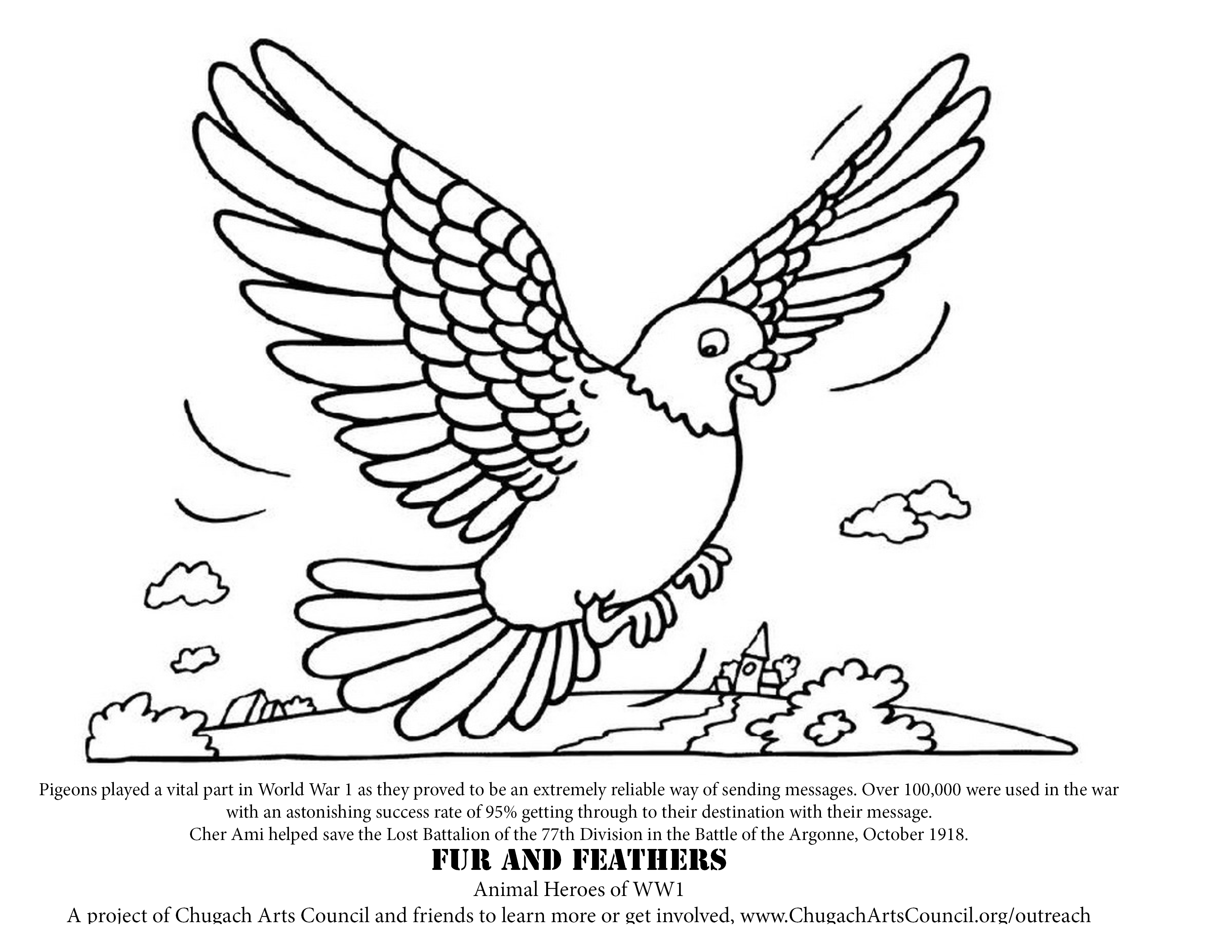 Coloring Pages, Fur and Feathers