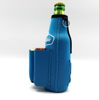Beer Bottle Coolie With Bottle Opener, Cigarette & Lighter ...