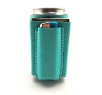 Beer Can Cooler With Cigarette & Lighter Holder (Teal ...