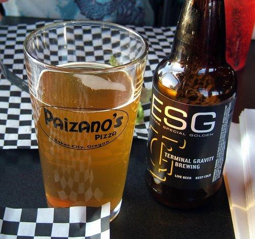 Paizano's pint glass