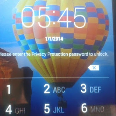 Enter Privacy Protection Password to unlock