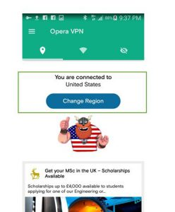 Opera VPN to install country denied apps