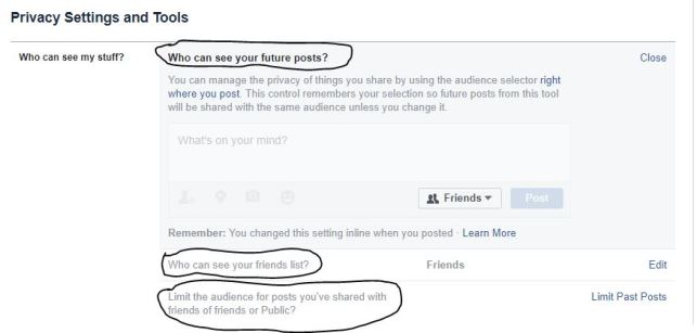 Limit past posts to friends