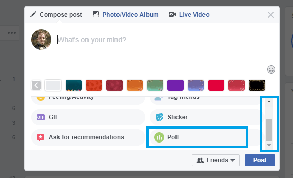 Create own Facebook Poll
