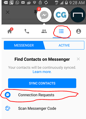 view ignored message on Messenger