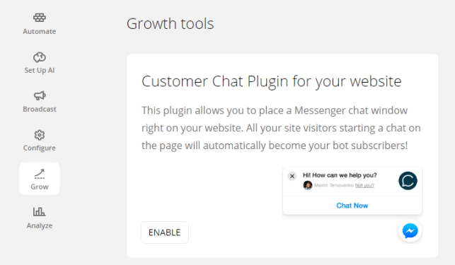 Customer Chat Plugin for your website