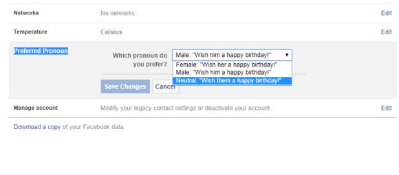 FacebookPreferred Pronoun