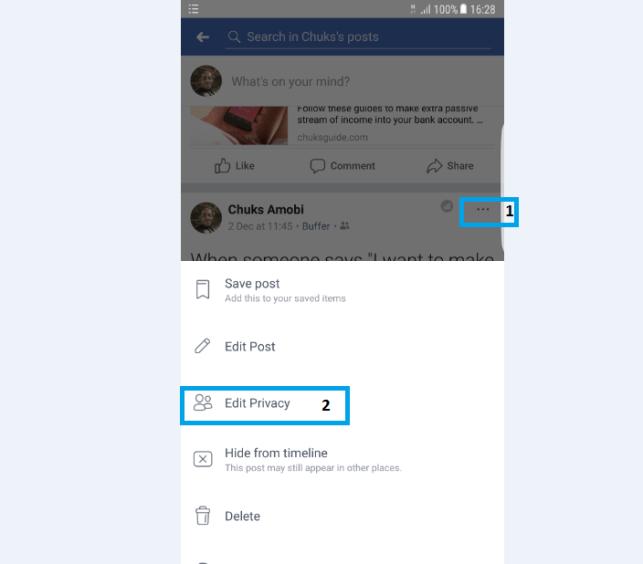 Edit Facebook Privacy Audience