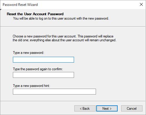Password Reset Disk