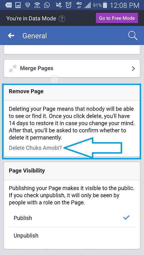 Delete-Facebook-Page