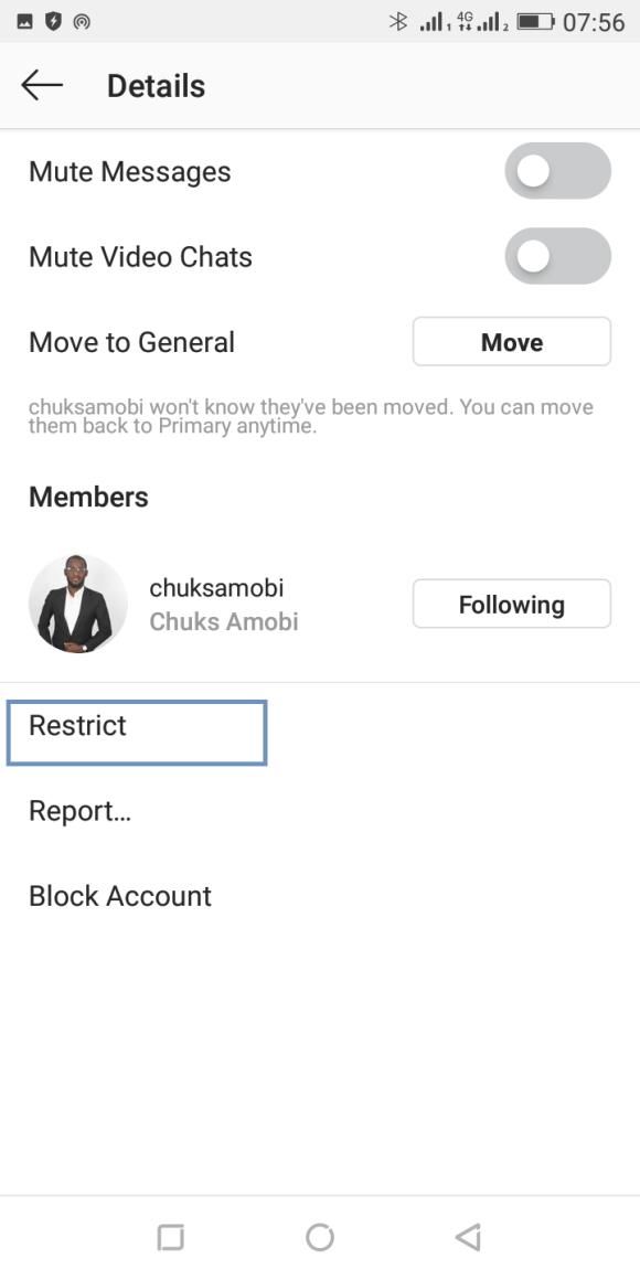 ignore instagram messages