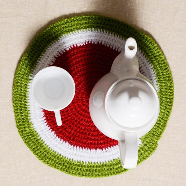 Crochet-Watermelon-Tea-Placemat