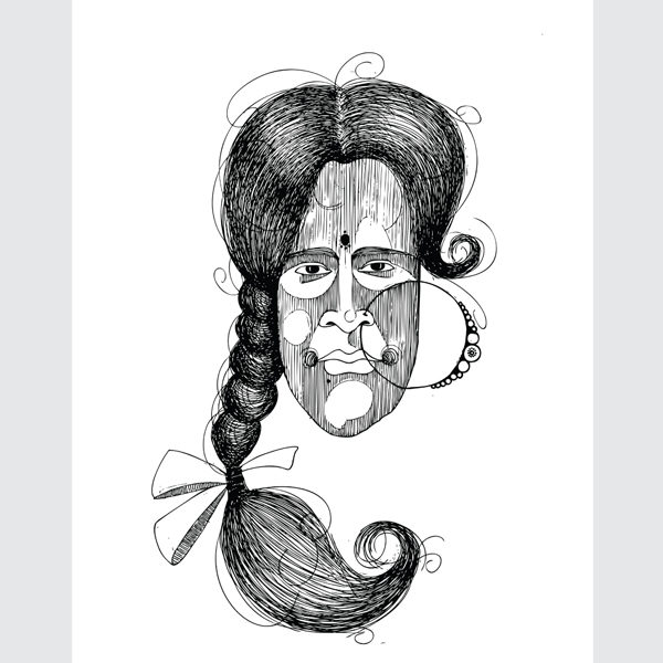 Black-and-White-Lady-Face-Art-Print-