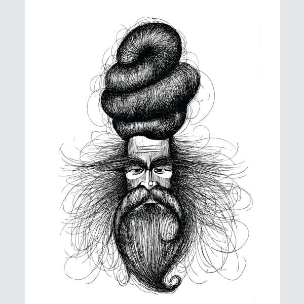 Black-and-White-Baba-Art-Print-
