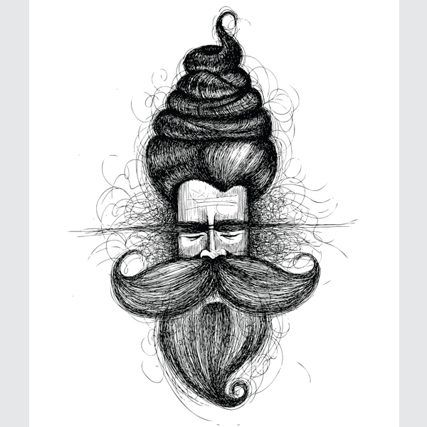Black-and-White-Big-Moustache-Baba-
