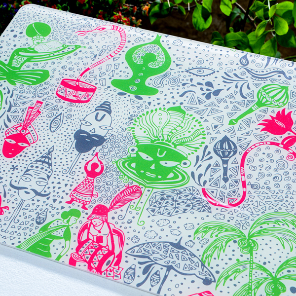 Green Red Indian Festival Place Mat