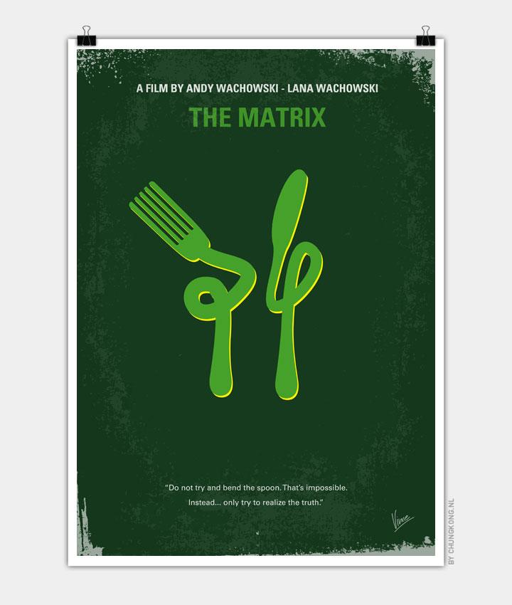 matrix minimal movie poster chungkong