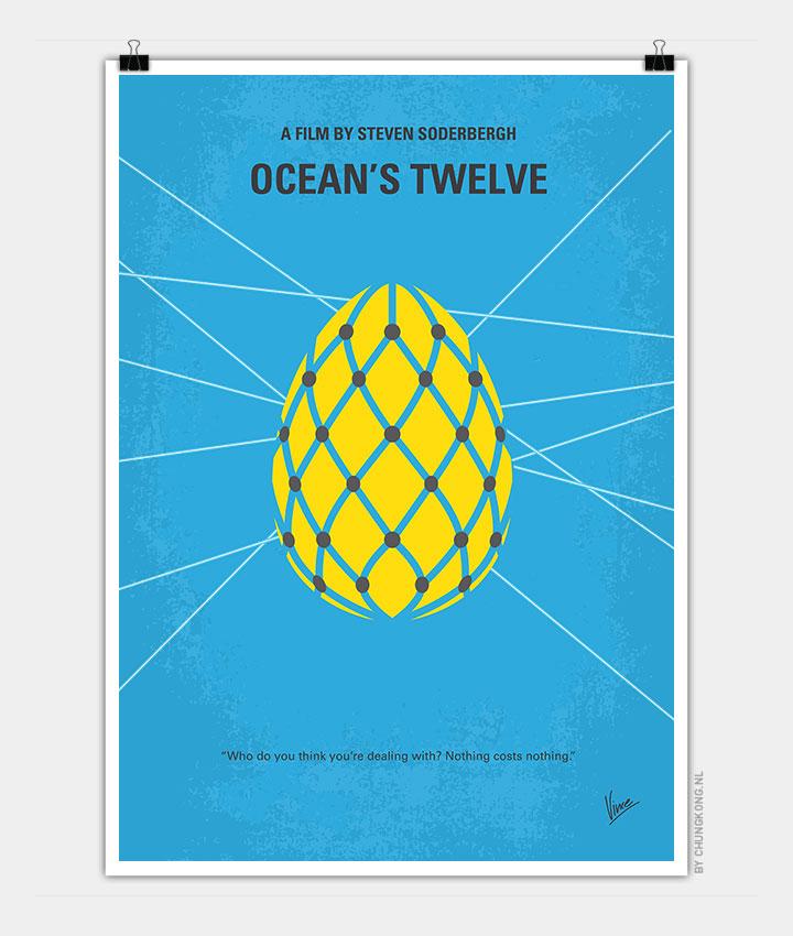 no056 my oceans 11 minimal movie poster