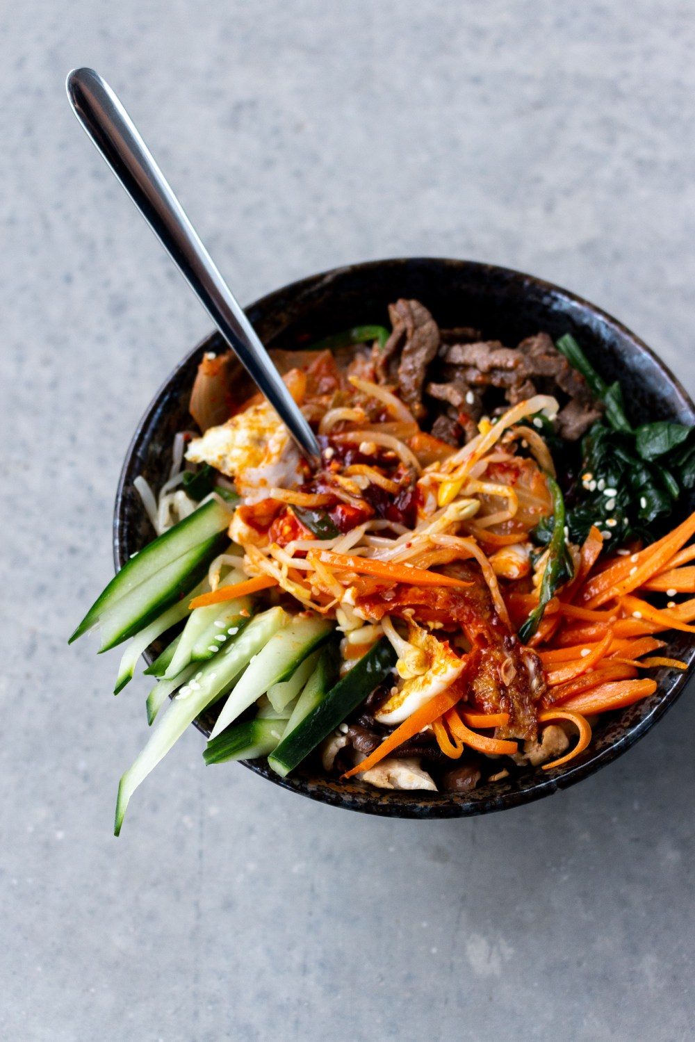 Bibimbap mixed