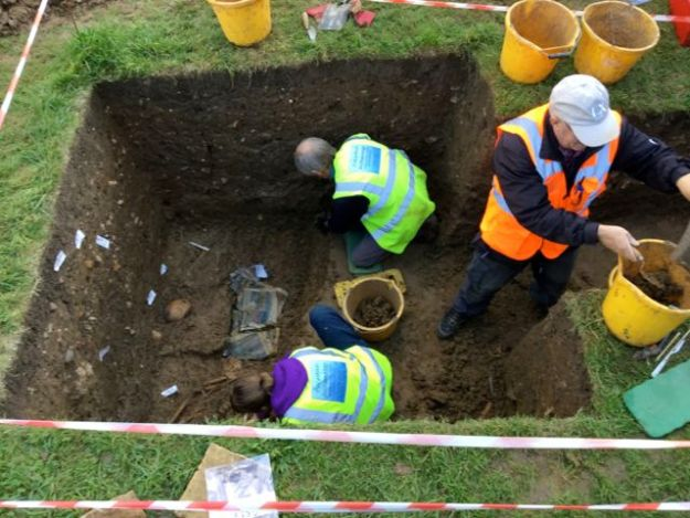 Dig at St Mary's Cropredy