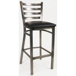 Steel Vinyl Chair Office Ergonomic White Horse Ladder Back Barstool Seat Our Armless With Frame And Is On Sale