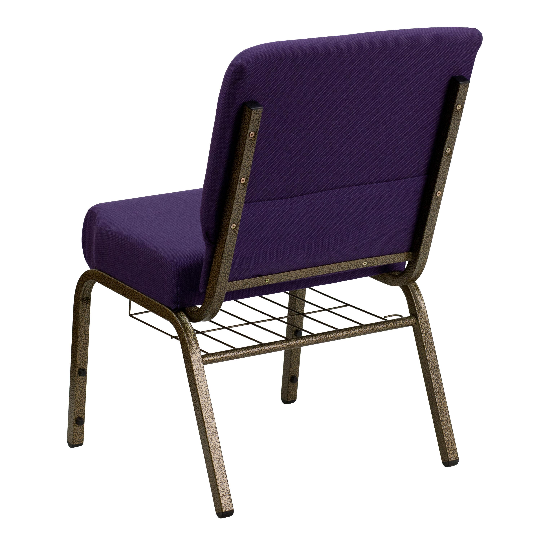 Purple Fabric Church Chair FDCH02214GVROYBASGG