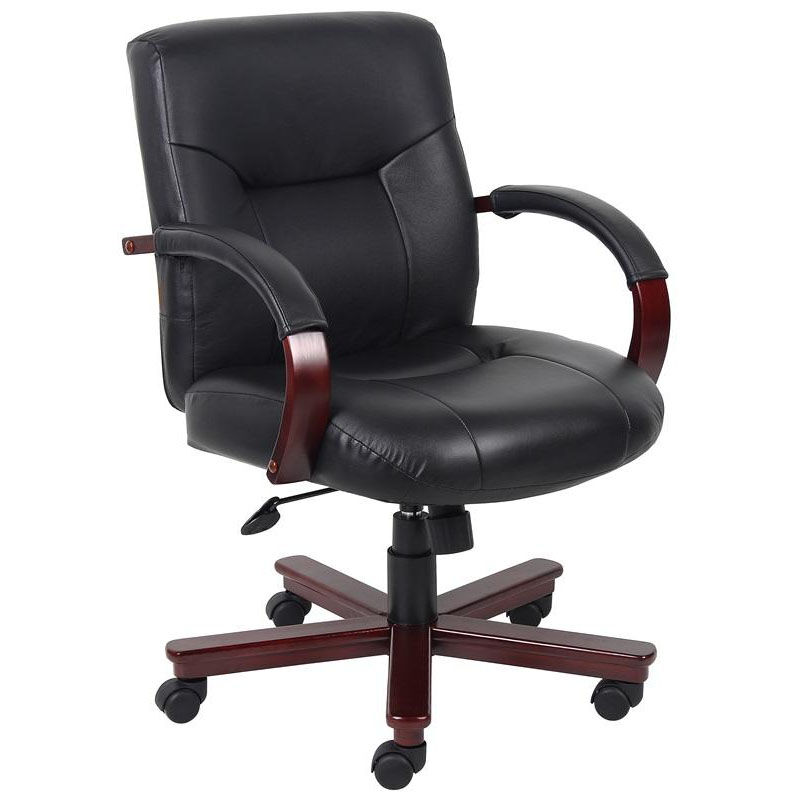desk chair knees game target boss office products mid back knee tilt executive leather