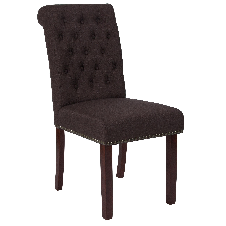 Brown Fabric Parsons Chair BT-P-BRN-FAB-GG ...