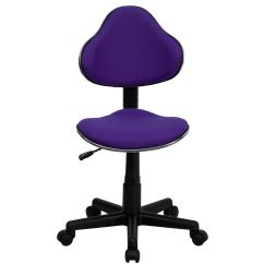 Purple Swivel Chair Gaming With Keyboard And Mouse Tray Flash Furniture Fabric Ergonomic Task