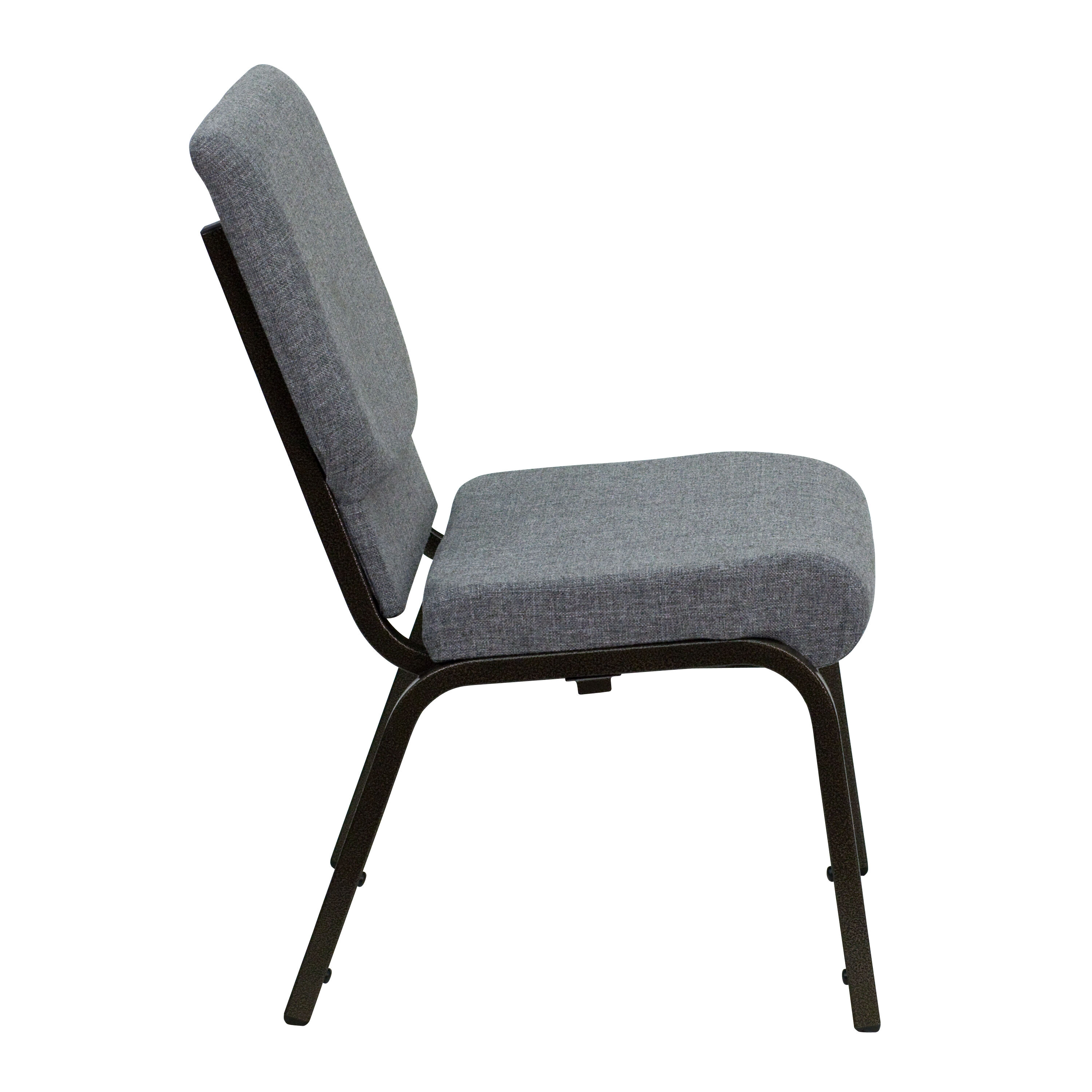 HERCULES Series 185W Stacking Church Chair in Gray