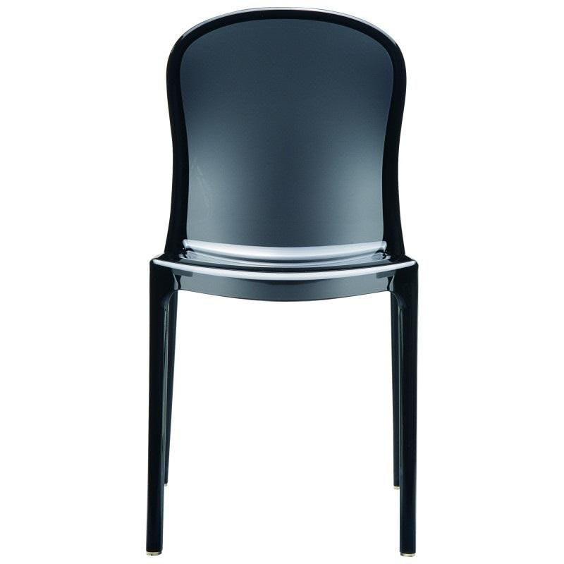 see through dining chairs antique telephone chair compamia victoria modern outdoor polycarbonate stackable