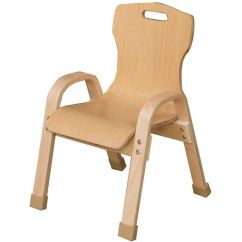 Wooden Chair With Arms For Toddler Crate And Barrel Beach Chairs Stacking Bentwood Kids 91001 Churchchairs4less