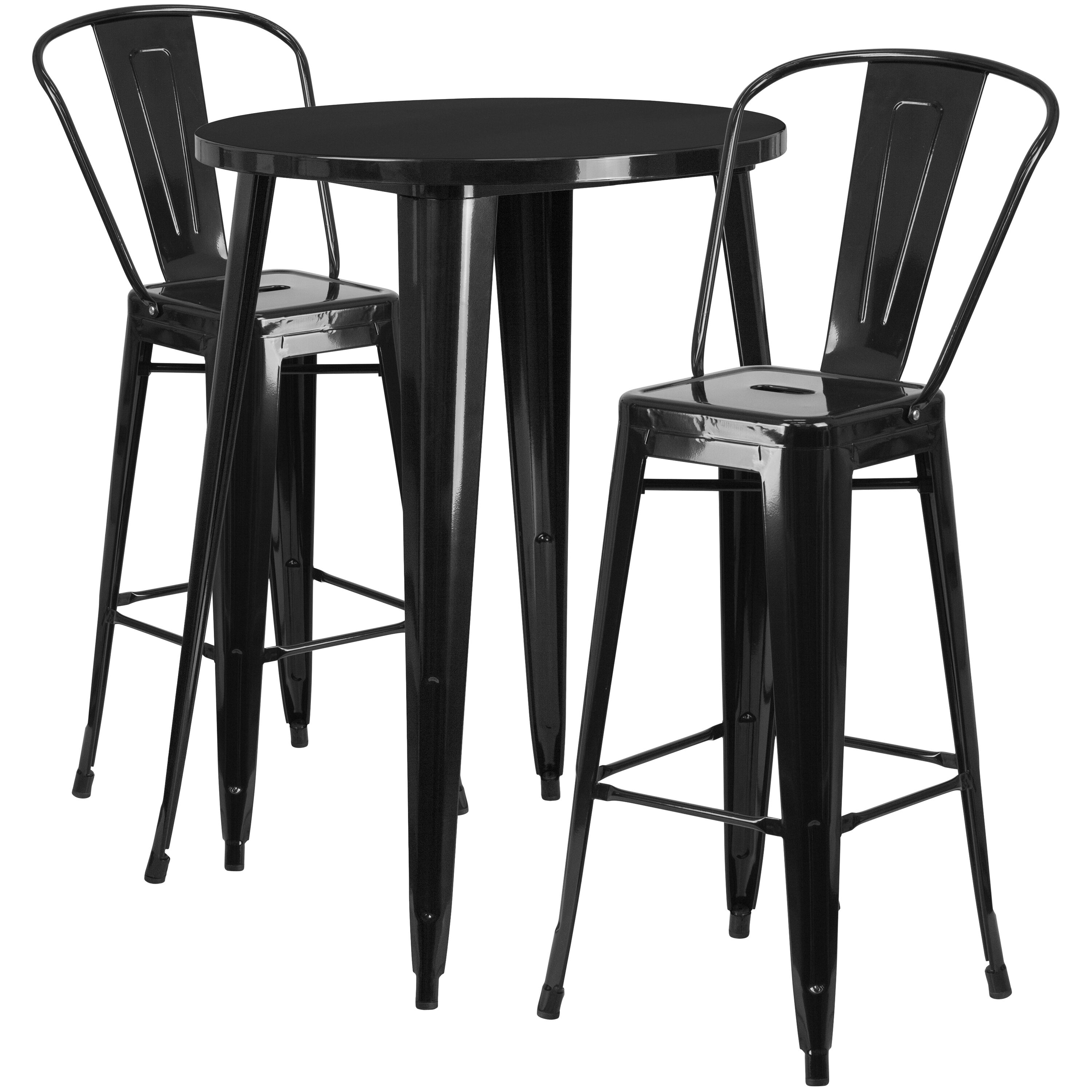 cafe chairs metal chair neck stand 30rd black bar set ch 51090bh 2 30cafe bk gg churchchairs4less com