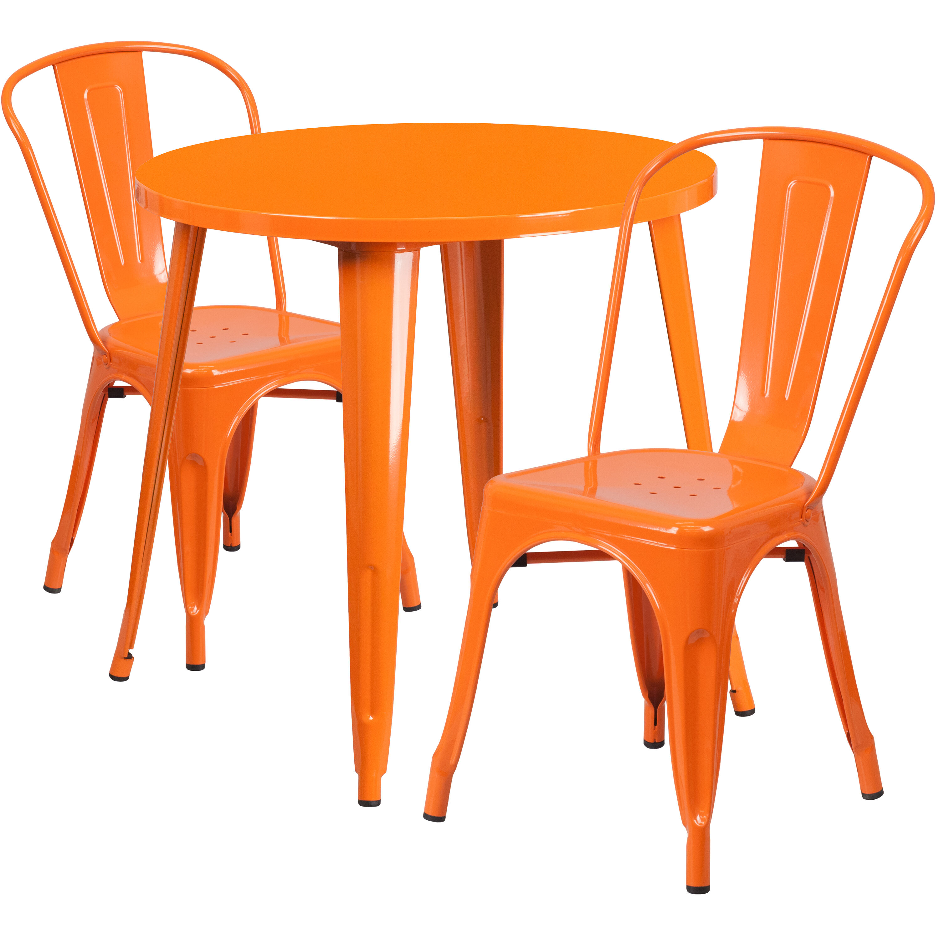 orange cafe chairs bloom fresco high chair 30rd metal set ch 51090th 2 18cafe or gg