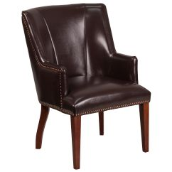 Brown Office Guest Chairs X Rocker Cables For Game Leather Side Chair Ch 162930 Bn Gg