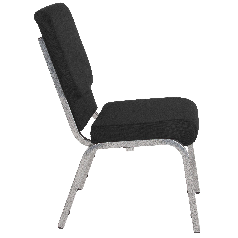 free church chairs karlstad chair cover isunda gray black fabric xu ch 60096 bk sv gg