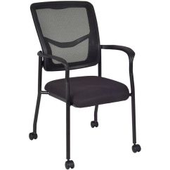 Side Chairs With Casters Chair Covers Wedding Hire Mesh Back Stackable Arm 5175cbk Churchchairs4less