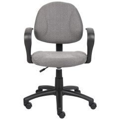 Posture Deluxe Chair Desk Recliner Padded Lumbar Support B317 Gy