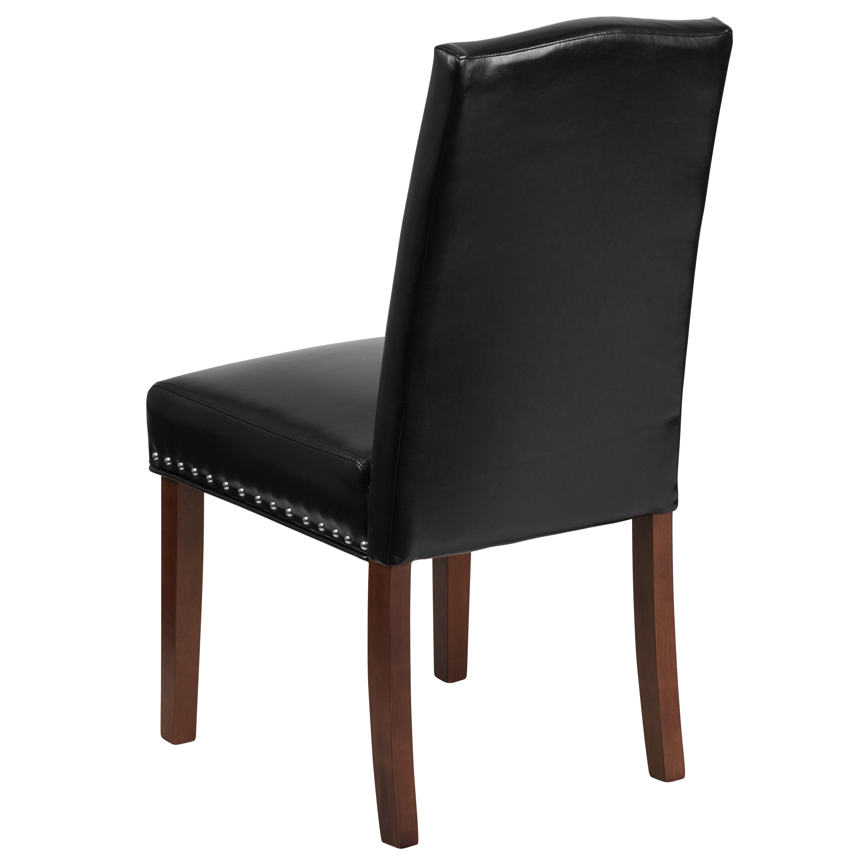 black parsons chair rattan chairs canada leather qy a13 9349 bk gg