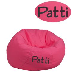 Child Bean Bag Chair Personalized Kids Futon Emb Hot Pink Dg Small Solid Htpk