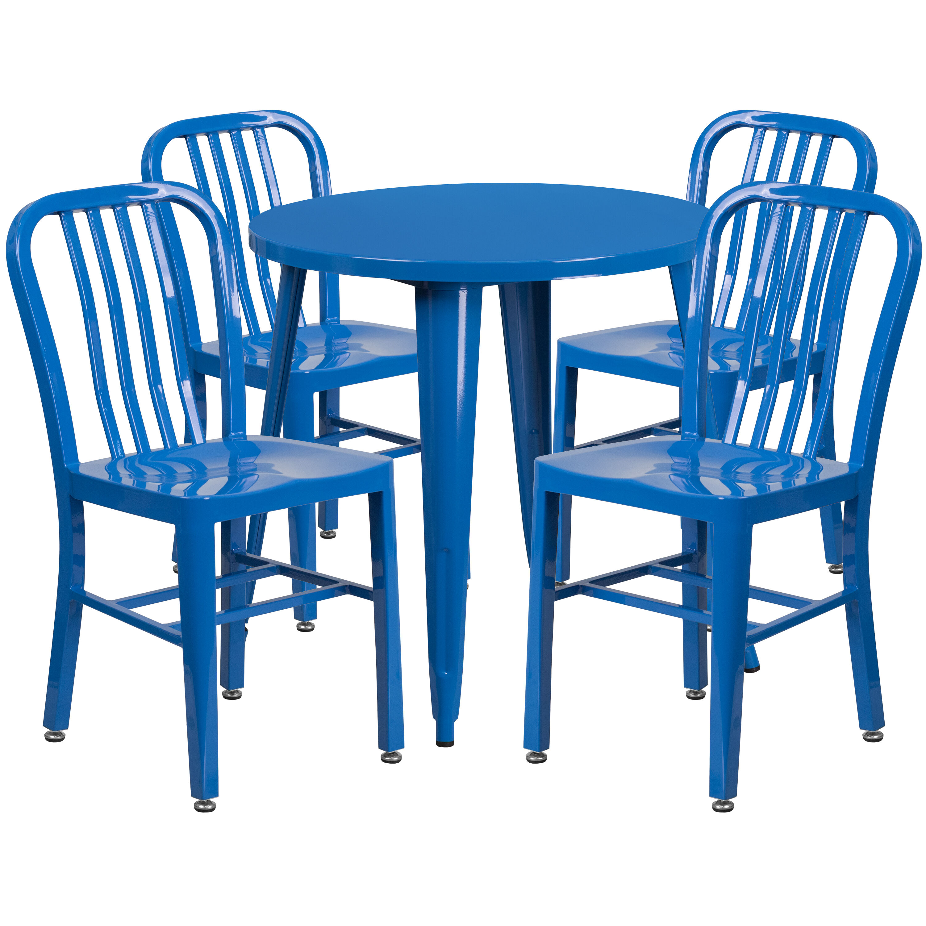 blue metal chairs tufted dining with nailheads 30rd set ch 51090th 4 18vrt bl gg