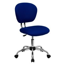 Kids Office Chairs Steel Chair In Madurai Churchchairs4less Mid Back Blue Mesh Padded Swivel Task With Chrome Base