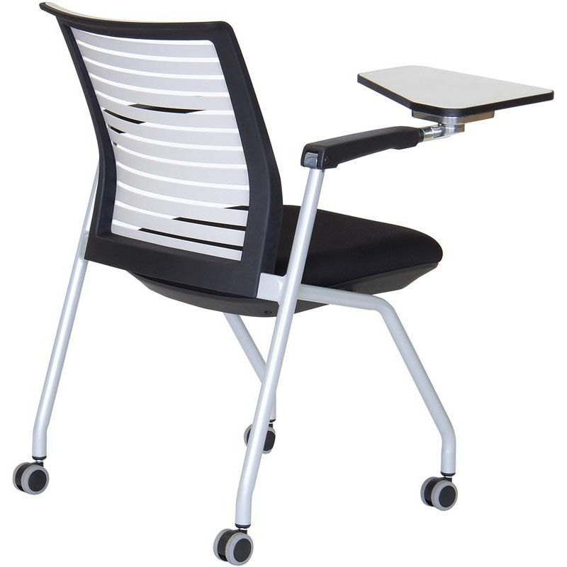 white multi purpose salon chair folding canada ace nesting ac8252 black tab r