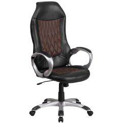 Chairs 4 Less Office Chair Qoo10 Black Brown High Back Ch Cx0906h Gg