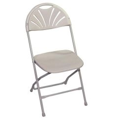 Resin Folding Chairs For Sale Rolled Arm Chair Classic White 133001 Churchchairs4less Com Our Champ Series 35 H Fanback Powder Coated Steel And